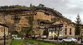 Acantilado Pano de Orbaneja imagen de archivo