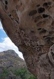 Acantilado por completo de agujeros Fotografía de archivo libre de regalías