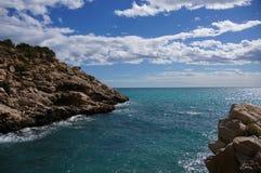 Acantilado y Cala Conill Zdjęcie Royalty Free