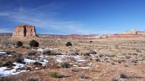 Acantilados Barranco-Bermellones desierto, Utah, los E.E.U.U. de Paria Foto de archivo