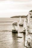 Acantilados blancos de Dorset A fotos de archivo libres de regalías