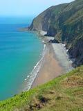 Acantilados cerca del lynton, paisaje costero Devon, sudoeste Inglaterra Imagen de archivo