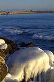 Acantilados costeros del hielo Imagenes de archivo