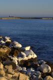 Acantilados costeros del hielo Foto de archivo libre de regalías