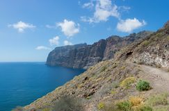 Acantilados de Los Gigantes beautiful cliffs in Puerto de Santiago. Tenerife, Canary Islands. stock photography