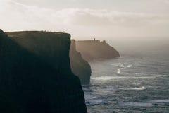 Acantilados de Moher en Irlanda Fotografía de archivo libre de regalías