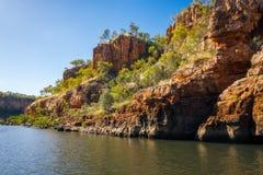 Acantilados de Rocky Sandstone en Katherine River Gorge, Australia imagen de archivo libre de regalías