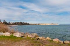 Acantilados de Stevns en Dinamarca Imagenes de archivo