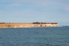 Acantilados de Stevns en Dinamarca Foto de archivo libre de regalías