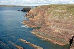 Acantilados del mar en País de Gales Fotografía de archivo libre de regalías