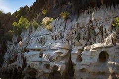 Acantilados devonianos imponentes de la piedra caliza de la garganta de Geikie imágenes de archivo libres de regalías