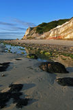 Acantilados en la costa Imágenes de archivo libres de regalías