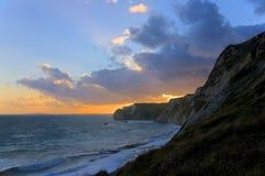 Acantilados en la costa jurásica Imágenes de archivo libres de regalías