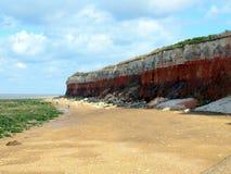Acantilados erosivos, Hunstanton Fotos de archivo libres de regalías