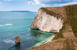 Acantilados jurásicos Dorset Inglaterra de la costa Foto de archivo libre de regalías