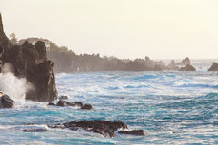 Acantilados rocosos de Tenerife Fotos de archivo libres de regalías