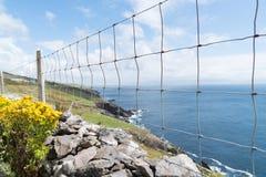 Acantilados rocosos a lo largo de la ruta turística de la manera atlántica salvaje en el oeste irlandés Imagenes de archivo