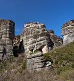 Acantilados y monasterios de Meteora Foto de archivo libre de regalías