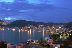 Acapulco bay. Mexico at night