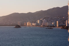Acapulco Bay. With sunset light Royalty Free Stock Photo