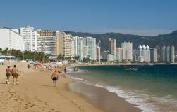 Acapulco Beach. People enjoying the famous beach of Acapulco Royalty Free Stock Image