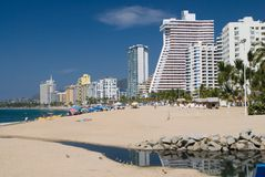 Acapulco Beach. Great view of Acapulco Bay Royalty Free Stock Image