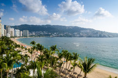 Acapulco beach. Beautiful view on Acapulco beach in Mexico Royalty Free Stock Photos