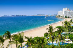 Acapulco beach. Beautiful view from Acapulco beach in Mexico Royalty Free Stock Photos