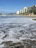 Acapulco beach. Ocean in Acapulco Royalty Free Stock Photography