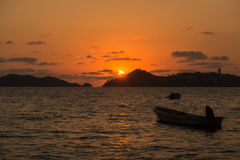 Acapulco beach. Sunset in Acapulco bay, Mexico Stock Photography