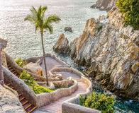 Acapulco cliff. La Quebrada (the famous divers' cliff) of Acapulco, Mexico Stock Photos