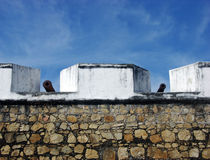 Acapulco Fort Wall. The wall with canons of San Diego historic fort in Acapulco city, Mexico Royalty Free Stock Photos