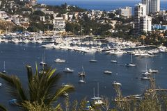 Acapulco Harbor Overlook. Point overlooking Acapulco harbor Royalty Free Stock Images