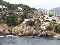 Acapulco Hotels and Cliffs Royalty Free Stock Image