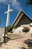 Acapulco-Kreuz und Kirche Stockbilder