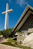 Acapulco-Kreuz und Kirche Stockbild