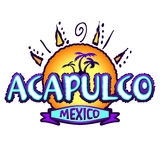 Acapulco Mexico - icon, emblem design Royalty Free Stock Images
