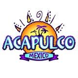 Acapulco Mexico - pictogram, embleemontwerp royalty-vrije illustratie