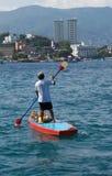 acapulco mexico snäckskalsäljare royaltyfri bild