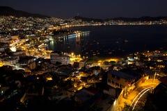 acapulco nätter arkivfoto