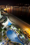 Acapulco Nights. An ariel view of Acapulco bay and beach at night Stock Images