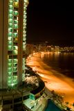 Acapulco Nights. Ariel Nighttime view of Acapulco Mexico Royalty Free Stock Photography