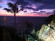 Acapulco, Ort des Schauspieles des Tauchens im Meer bei Sonnenuntergang Lizenzfreies Stockbild