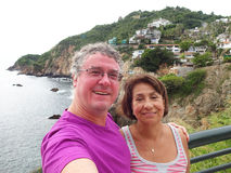 Acapulco Selfie in Mexico stock photo