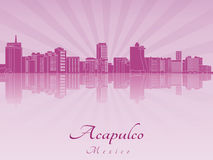 Acapulco skyline in purple radiant orchid Royalty Free Stock Photos