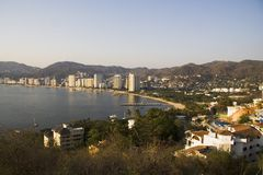 Acapulco am Sonnenuntergang stockbild