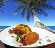 Acarajé von Bahia Stockfotografie