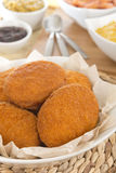 Acaraje. Traditional Brazilian fritters made with black-eyed peas filled with vatapa, caruru, tomato salad and sauteed shrimp. Typical food from Bahia Stock Photography