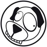 Acaricia el b&w del perro del icono Imagen de archivo libre de regalías
