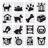 Acaricia iconos Fotos de archivo